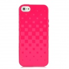 Newtons 3D Square Grid Pattern Silicone Back Case for Iphone 5 - Deep Pink