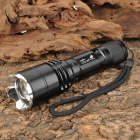 UltraFire Cree XM-L T6 600lm 5-Mode Memory White Zooming Flashlight - Black (1 x 18650 / 3 x AAA)