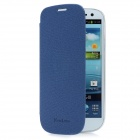 Newtons Artificial Leather Flip Cover for Samsung i9300 - Steel Blue