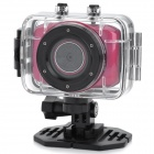 "Mini 1.8"" LCD 720p 1.3MP 4X Digital Zoom Anti-Shaking DVR Camcorder w/ Waterproof Case - Red"