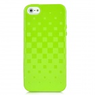 Newtons 3D Square Grid Pattern Silicone Back Case for Iphone 5 - Green