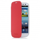 Newtons Artificial Leather Flip Cover for Samsung i9300 - Red