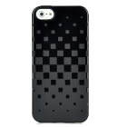 Newtons 3D Square Grid Pattern Silicone Back Case for Iphone 5 - Black