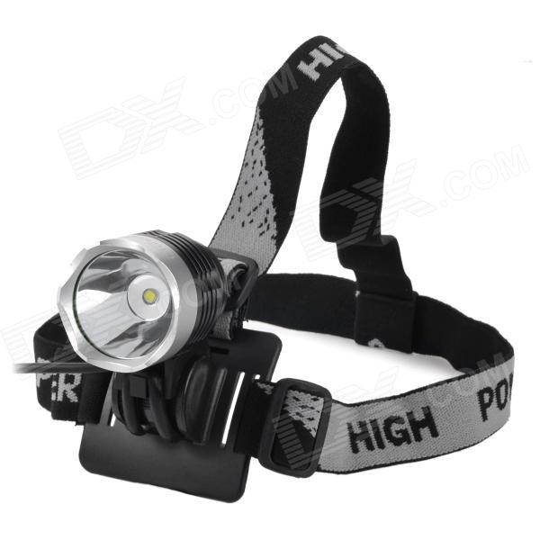 UltraFire Cree XM-L T6 870lm 3-Mode White Crown Head Bike Light Headlamp - Black (4 x 18650)