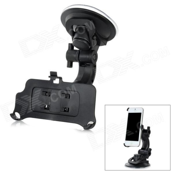 Universal Car Mount 360 Degree Rotatable Suction Cup Holder for Iphone 5 - Black jhd 12hd68 universal 360 degree rotatable car mount holder for cellphone black green