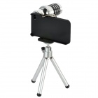 LESUNG 12x Zoom Telescope Lens with Tripod & Back Case for iPhone 4 / 4S - Black