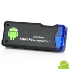 Dual-Core Android 4.1 Google TV Player w/ Wi-Fi / 1GB RAM / 4GB ROM / OTG - Black (EU Plug)