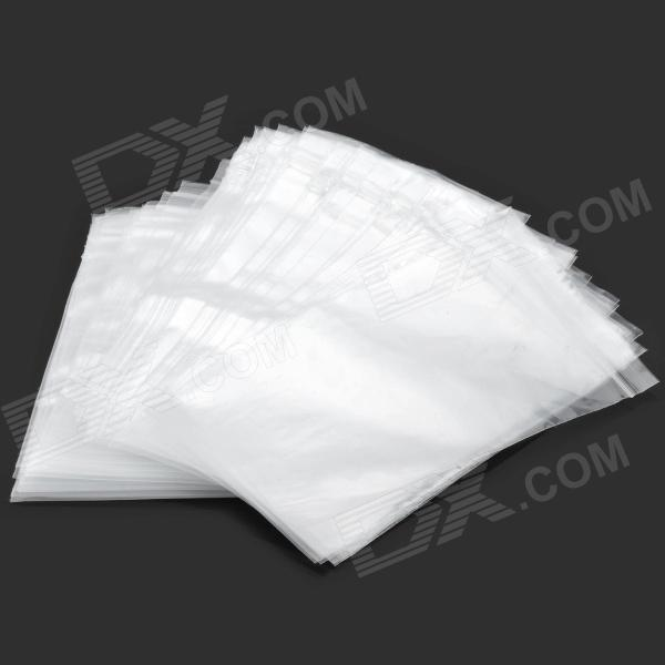Simple Resealable PE Bags Set - Transparent (100 PCS)