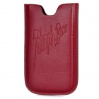 Fashion PU Leather Protective Pouch for Iphone 4 /4 S - Purplish Red