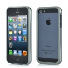 Protective Brushed Aluminum Alloy Bumper Frame for iPhone 5 - Grey