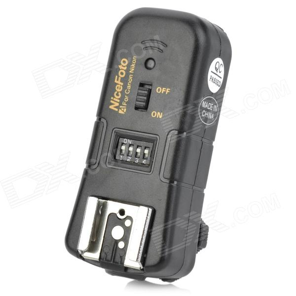 NiceFoto C-16 3-in-1 2.4GHz Wireless Remote Flash Trigger Single Receiver for Canon DSLR - Black