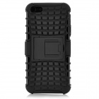 Detachable Protective Shockproof Soft Plastic + PC Back Case Cover Stand for Iphone 5 - Black