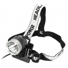UltraFire 870lm 4-Mode White Bike Light Headlamp - Silver + Black (4 x 18650)