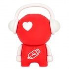MUP16G Cute Cartoon Figure USB Flash Drive - Red + White (16GB)