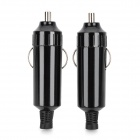 DC 12V Car Cigarette Lighter Plug Adapter - Black (2 PCS)