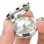 Christmas Sock Shaped Zinc Alloy Quartz Analog Waterproof Keychain Watch - Silver + Green (1 x 626)