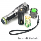 UltraFire 455lm 5-Mode Memory White Zooming Flashlight - Silver (1 x 18650 / 3 x AAA)