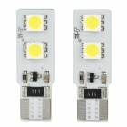 Dianzi T10 3W 80lm 4-SMD 5050 LED White Light Decoded Car Leselampe (12 ~ 16V / 2 PCS)
