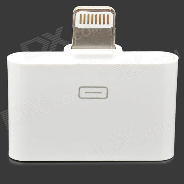 8-Pin Lightning Male to 30-Pin Female  Data Transfer / Charging adapter for iPhone 5 - White