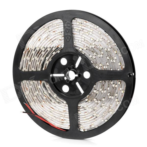 Waterproof 24W 2100lm 300*SMD 3528 LED Cool White Light Flexible Car Decoration Strip (12V / 5m)