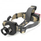 UltraFire Cree XR-E Q5 160lm 3-Mode White Zooming Headlamp w/ Rear Alarm Light - Black (1 x 18650)
