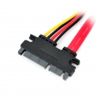 SATA 7+15-Pin Male to Male Extension Data Cable - Red + Black + Yellow (40cm)