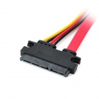 SATA 7 + 15 broches femelle à Extension Data Cable - rouge + noir + jaune (40cm)