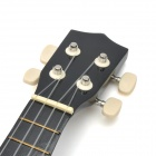 "William AJ012 Mini Handheld 21"" 4-String Ukulele Guitar - Black"