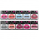 Various Patterns Rubber Tattoo Lips Stickers (10 PCS)