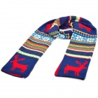 Christmas Style Snow-Flake Elk Pattern Thick Woolen Scarf - Colorful