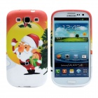 Father Christmas Pattern Protective Silicone Case for Samsung i9300 Galaxy S3