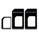 Nano SIM Card Adapter Set for Iphone 4 / 4S / 5 - Black