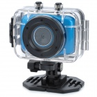"Mini 1.8"" LCD 720p 1.3MP 4X Digital Zoom Anti-Shaking DVR Camcorder w/ Waterproof Case - Blue"