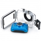 "Mini 1.8 ""LCD 720p 1.3MP zoom digital de 4x anti-Sacudiendo DVR videocámara w / estuche estanco al agua - azul"