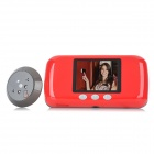 "S6 3.0"" TFT LCD 300KP Digital Door Viewer Peephole Viewer - Red + Black (4 x AA)"