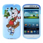 Merry Christmas Gift Angel Pattern Soft Silicone Case for Samsung i9300 Galaxy S3 - Light Blue