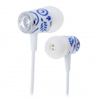 GNP-60 3.5mm Plug In-Ear Music Earphones - White + Blue (120cm)