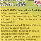 MagicSIM 2008 New Dual-SIM Card (20th-Generation)