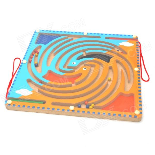 MG804 Two Birds Pattern Intelligent Education Labyrinth Toy - Blue + Orange
