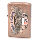 Stylish Windproof USA Eagle Pattern Zinc Alloy Oil Lighter - Bronze