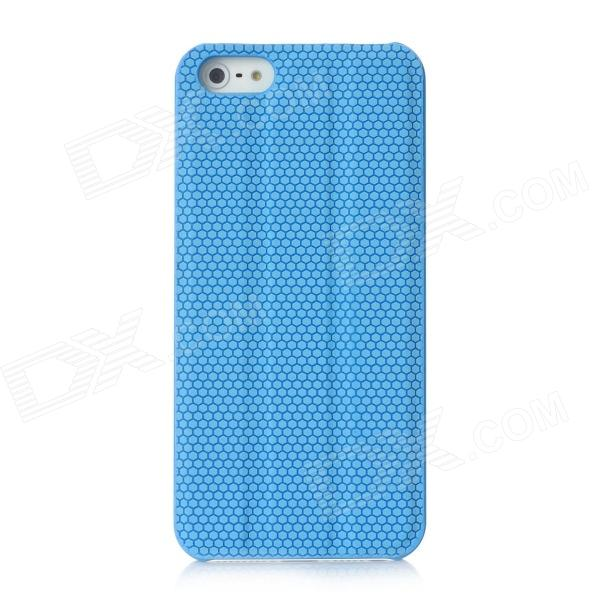 Protective PC Back Case w/ Holder / Screen Guard for Iphone 5 - Blue