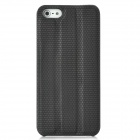 Protective PC Back Case w/ Holder / Screen Guard for Iphone 5 - Black