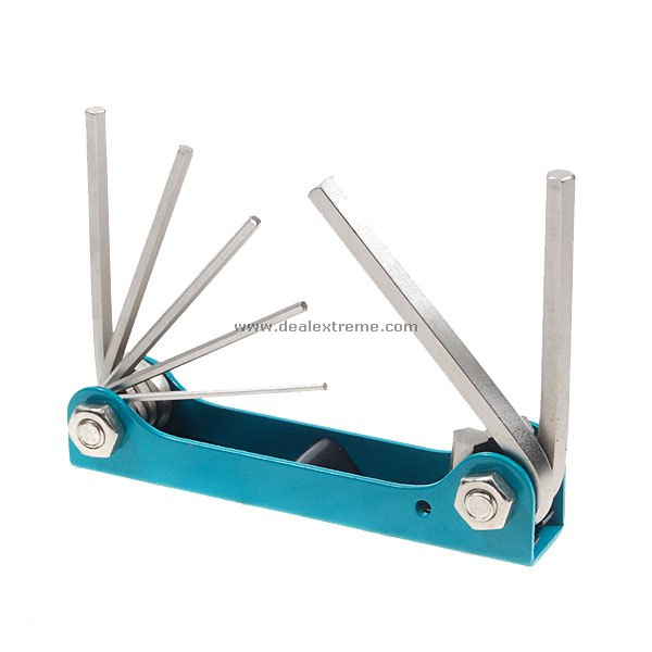 7 Pieces Folding Hex Key/Screw Driver Set Nickel Plated whole set selling 16 folding mother