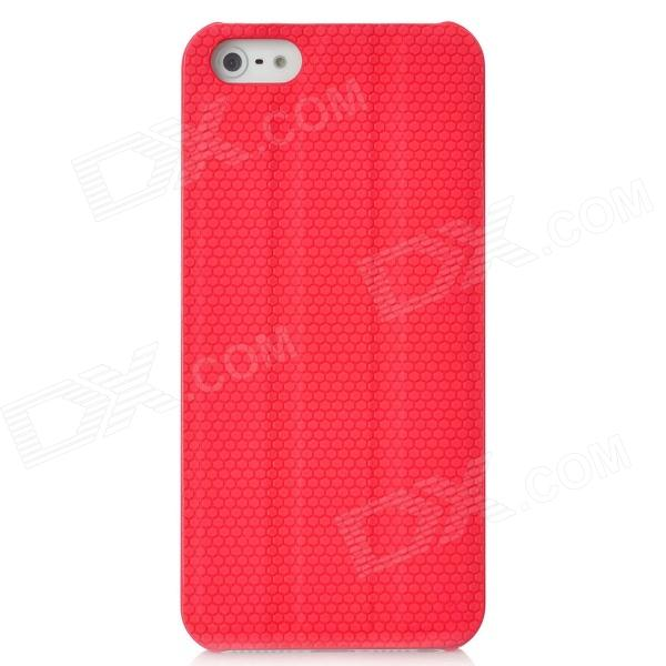Protective PC Back Case w/ Holder / Screen Guard for Iphone 5 - Red elegance tpu pc hybrid back case with kickstand for iphone 7 plus 5 5 inch red