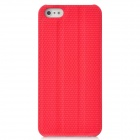 Protective PC Back Case w/ Holder / Screen Guard for Iphone 5 - Red