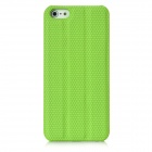 Protective PC Back Case w/ Holder / Screen Guard for Iphone 5 - Green