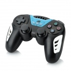 Rechargeable Bluetooth Wireless Dual Motor SIXAXIS Controller for PS3 - Black + Light Blue