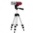 Multi-Function 6000mAh Blue & White Light 4-Mode Fishing Lamp w/ Tripod - Red + Silver