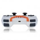 Rechargeable Bluetooth Wireless Dual Motor SIXAXIS Controller for PS3 - White + Orange