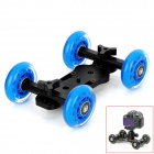SYXCII Floor Table Video Slider Track Dolly Car for DSLR Camera - Black